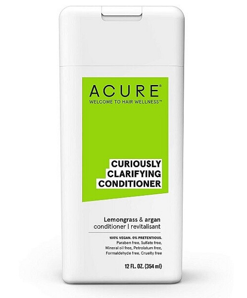 Acure Curiously Clarifying Hair Conditioner, Lemongrass and Argan, 12 fl Ounce