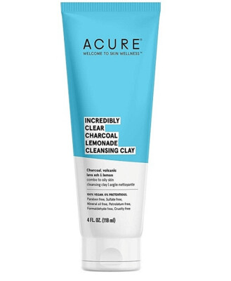 Acure Incredibly Clear Charcoal Lemonade Cleansing Clay, 4 fl Ounce