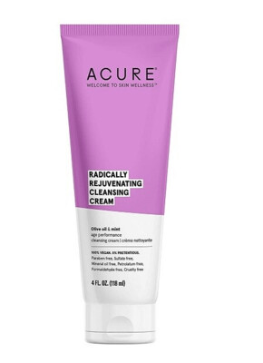 Acure Radically Rejuvenating Cleansing Cream, 4 Ounce