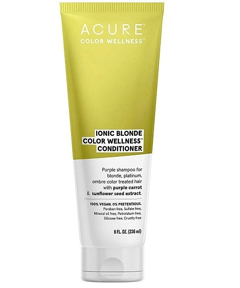 Acure Ionic Blonde Color Wellness Purple Carrot & Sunflower Seed Extract Hair Conditioner, 8 Ounce