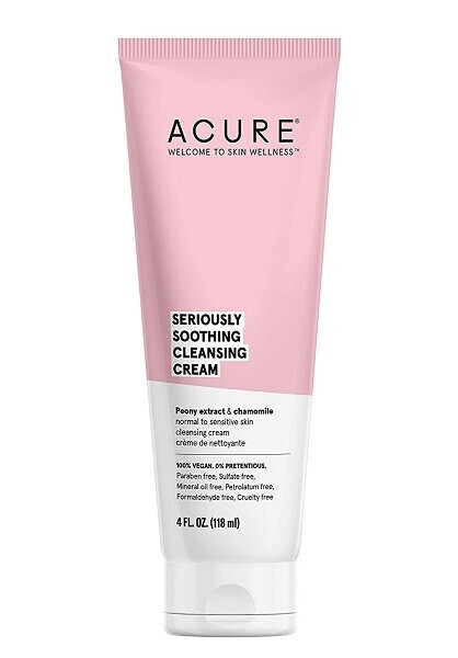 Acure Seriously Soothing Cleansing Cream, 4 Ounce