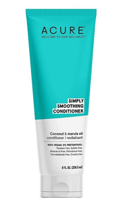 Acure Simply Smoothing Hair Conditioner, Coconut Water and Marula Oil, 8 fl Ounce