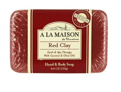 A La Maison Bar Hand and Body Soap Red Clay, 8.8 Ounce