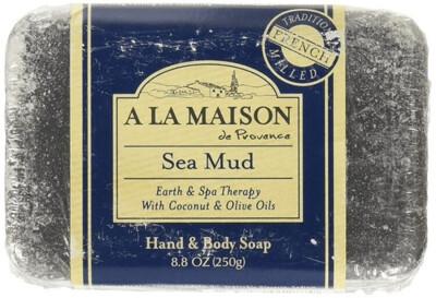 A La Maison De Proven Bar Soap, Sea Mud, 8 Ounce