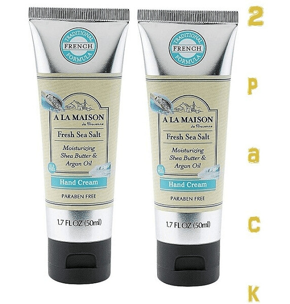 A La Maison Hand Cream, Fresh Sea Salt, 1.7 Fluid Ounce, Pack of 2