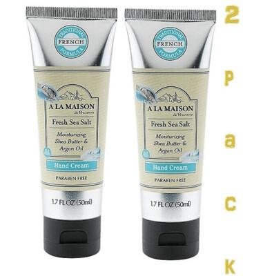 A La Maison Hand Cream, Fresh Sea Salt, 1.7 Fluid Ounce, Pack of 2