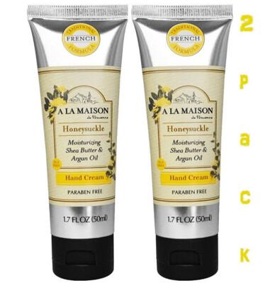 A La Maison Hand Cream, Honeysuckle, 1.7 Fluid Ounce, Pack of 2
