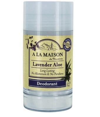 A La Maison De Provence Long Lasting Deodorant, Lavender Aloe, 2.4 Ounce