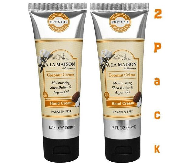 A La Maison Hand Cream, Coconut Creme, 1.7 Fluid Ounce, Pack of 2