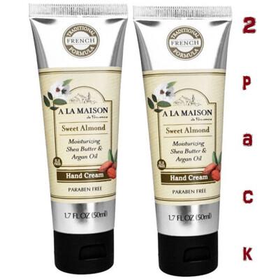 A La Maison Hand Cream, Sweet Almond, 1.7 Fluid Ounce, Pack of 2