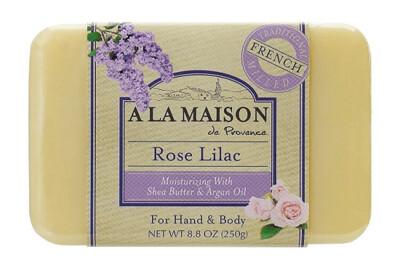 A La Maison Soap Bar, Rose Lilac, 8.8 Ounce