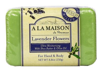 A La Maison Solid Bar Soap, Lavender Flowers, 8.8 Ounce