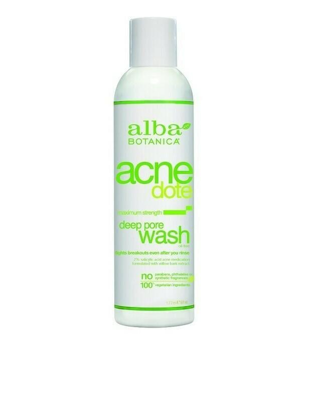 Alba Botanica Acnedote Deep Pore Wash, 6 Ounce