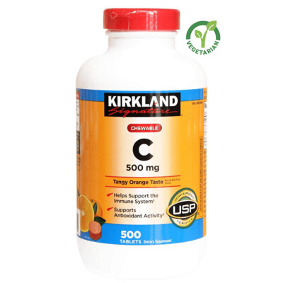 Kirkland Signature Chewable Vitamin C 500 mg, 500 Tablets