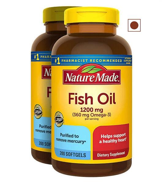 Nature Made Fish Oil 1200 mg, 400 Softgels
