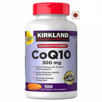 Kirkland Signature CoQ10 300 mg, 100 Softgels