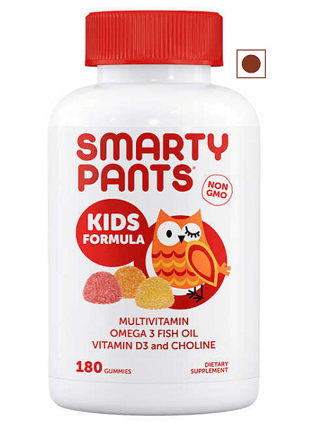 SmartyPants Kids Formula Multivitamin, 180 Gummies