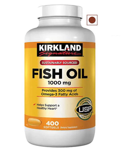Kirkland Signature Fish Oil 1000 mg, 400 Softgels