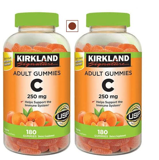 Kirkland Signature Vitamin C 250 mg, 360 Adult Gummies