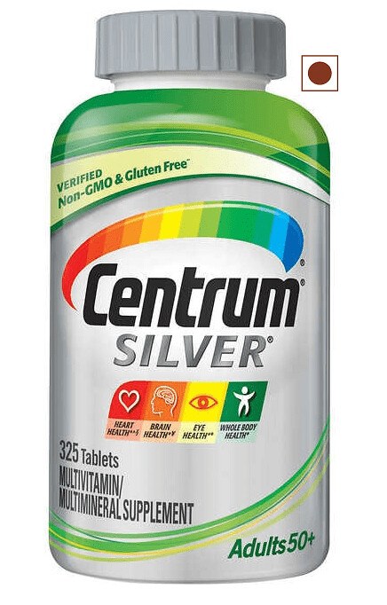 Centrum Silver Adults 50+ Multivitamin, 325 Tablets