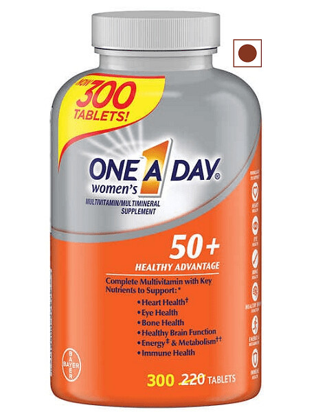 One A Day Women's 50+ Healthy Advantage Multivitamin, 300 Tablets