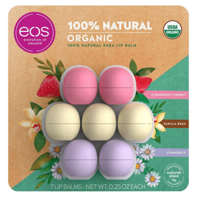 eos Organic Lip Balm, 7 Spheres
