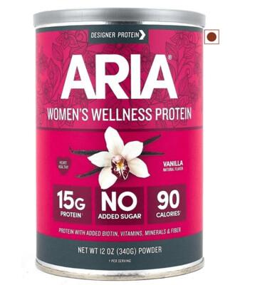 Designer Protein Aria Womens Wellness Protein, Vanilla, 12 Ounce