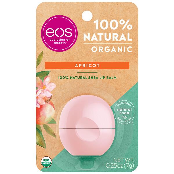 eos Organic Lip Balm, Apricot, 0.25 Ounce