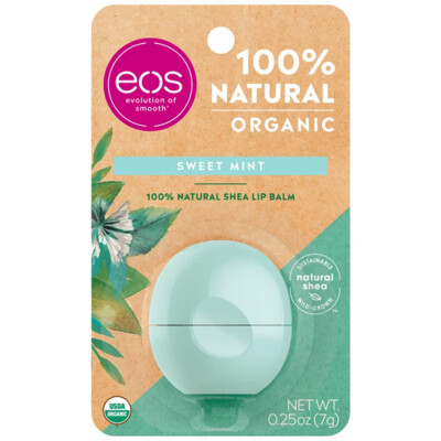 eos Organic Lip Balm, Sweet Mint, 0.25 Ounce