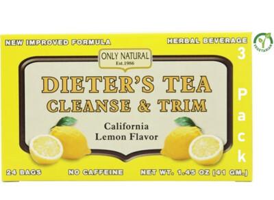 Only Natural Dieters Cleansing Tea Lemon, 24 Tea Bags, Pack of 3