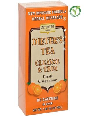 Only Natural Dieters Cleansing Tea, Orange, 24 Tea Bags, Pack of 3
