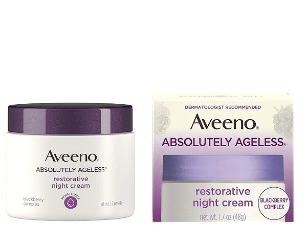 Aveeno Absolutely Ageless Restorative Night Cream, 1.7 fl Ounce