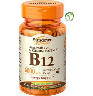 Sundown, Sublingual B12 6000 mcg, 60 Tablets