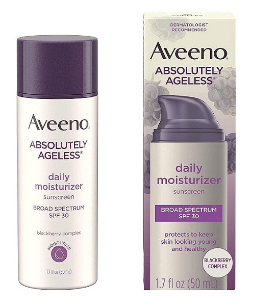 Aveeno Absolutely Ageless Daily Facial Moisturizer, SPF 30, 1.7 fl Ounce