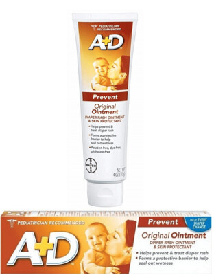 A+D Diaper Rash Ointment and Skin Protectant, Original, 4 Ounce