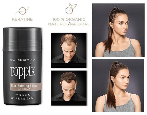 Toppik Hair Building Fibers for Men and Women, Light Brown, 0.42 Ounce