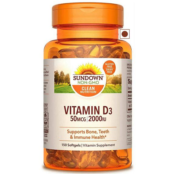 Sundown Vitamin D3 2000 Iu, 150 Softgels