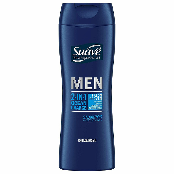 Suave Men Hair Shampoo and Conditioner, Ocean Charge, 12.6 fl Ounce