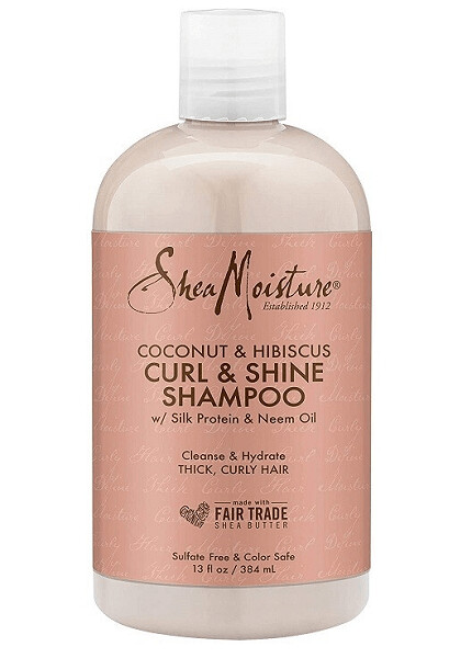 Shea Moisture Curl Shine Hair Shampoo with Coconut and Hibiscus, 13 fl Ounce