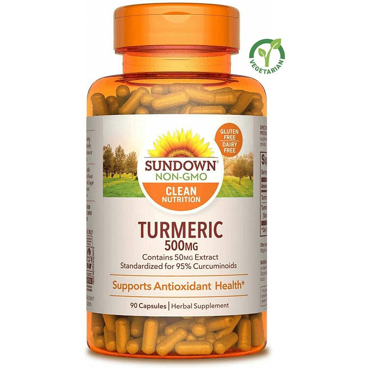 Sundown Turmeric Curcumin 500 mg, 90 Capsules
