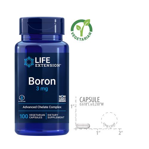 Life Extension Boron 3 Mg 100 Capsules