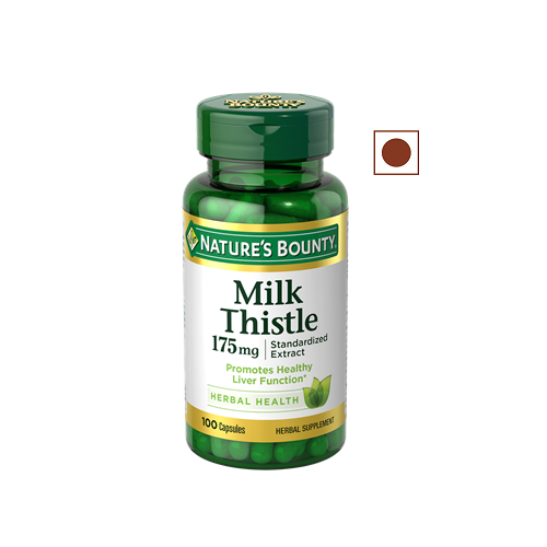 Nature's Bounty Milk Thistle 175mg Supports Liver Health, 100 Capsules
