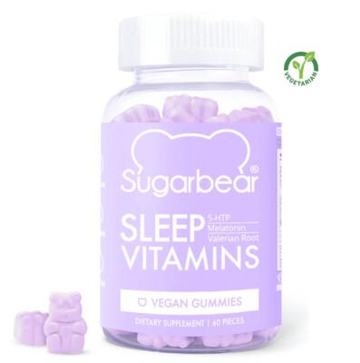 SugarBear Sleep Vitamins with Melatonin, 60 Vegan Gummies