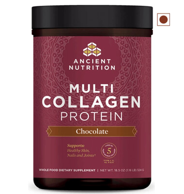 Ancient Nutrition Multi Collagen Protein Powder, Chocolate, 18.5 Ounce