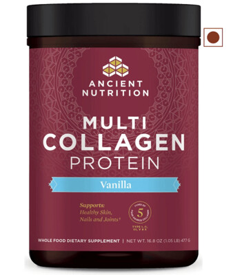 Ancient Nutrition Multi Collagen Protein Powder, Vanilla, 16.8 Ounce