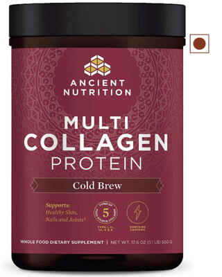 Ancient Nutrition Multi Collagen Protein Powder, Cold Brew, 17.6 Ounce