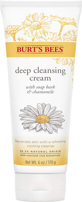 Burts Bees Soap Bark and Chamomile Deep Cleansing Cream, 6 Ounce