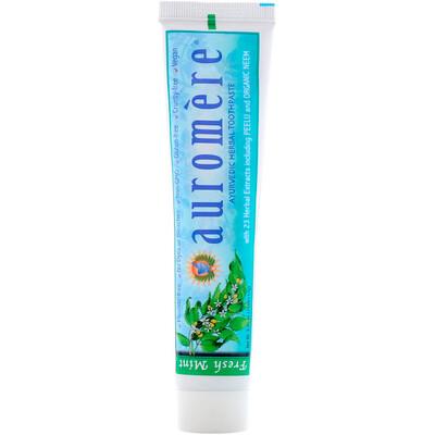 Auromere Ayurvedic Herbal Vegan Toothpaste, Fresh Mint, 4.16 Ounce