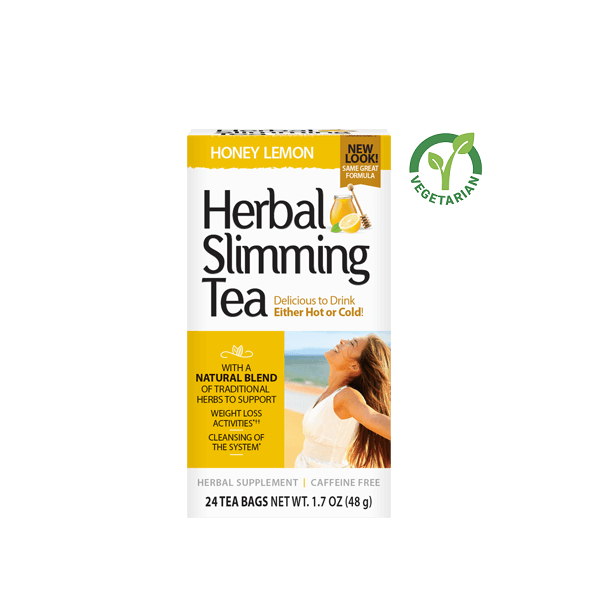 21st Century Herbal Slimming Tea Honey Lemon, 24 Tea Bags