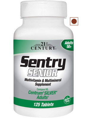 21st Century Sentry Senior Tablets, 110 Count